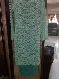Baju kurung moden lace & songket #oct10