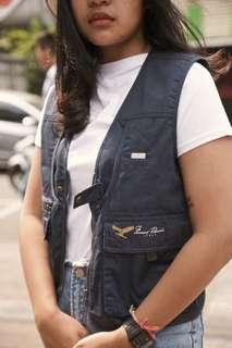 #MauIphoneX Vest Biru Dongker Murah