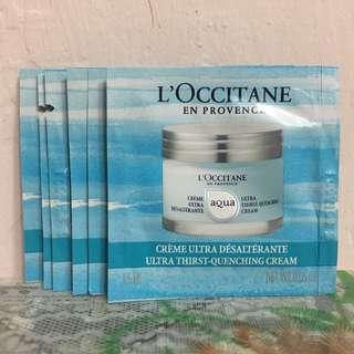 L'OCCITANE 一套6件 活泉礦物鎖水乳霜 AQUA REOTIER ULTRA THIRST-QUENCHING CREAM