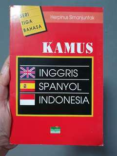 Kamus Inggris Spanyol Indonesia