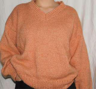 Apricot knit sweater