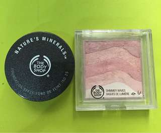 Nature's minerals loose powder spf 25 and shimmer waves
