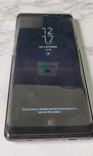 Samsung note 8 galaxy ( black ) mint condition with warranty