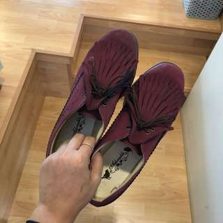 MAROON SHOES SIZE 37