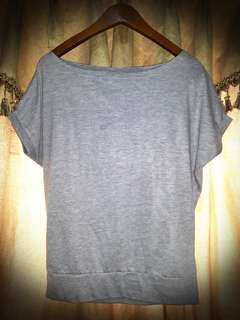 Basic Grey Top Size S-M #Septemberceria #sale