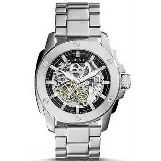 45ccf2f13ea FOSSIL MEN MACHINE AUTOMATIC SKELETON DIAL STAINLESS STEEL WATCH ME3081