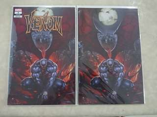 Venom #3 Comics Skan Variant set w/ virgin variant (2018)