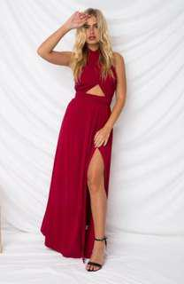 Halter neck ball dress