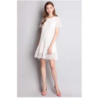 BRAND NEW in bag Lilypirates Under The Sun Dress In Fresh White [Similar to Love & Bravery LAB, Love Bonito classic look]