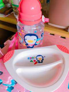 🚚 PUKU專櫃正貨水壺跟餐盤