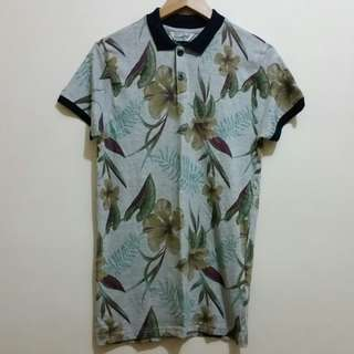 Size XS Cotton On Floral Print Polo T-shirt