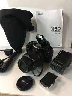 Nikon D60 with lens and many more accessories!!