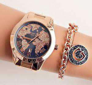 Michael Kors Limited Edition World Map Rose Gold Watch