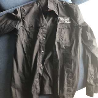 (Free postage )Armani exchange black shirts
