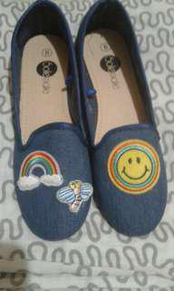 Solemate Denim Happy Face Slip-on