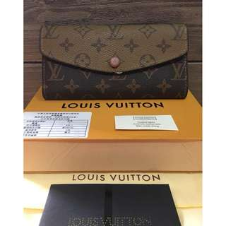 f421454929c Authentic Quality Louis Vuitton Josephine Monogram Canvas Wallet LV Emilie  Trifold Long Wallet Snap Button Lock