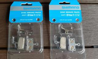 Shimano disc brake metal pads with titanium backplate (2 units)