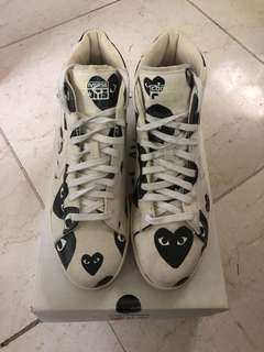 8f9db2f52b9e CDG Play Converse Pro Leather High Size 11