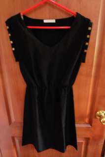 Little black studded dress