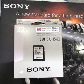 Sony SDHC UHS-II 32gb memory card