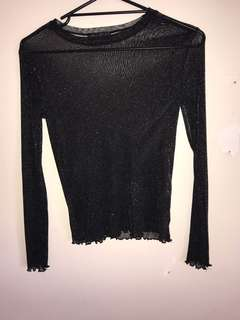 Ally mesh sparkle top size small