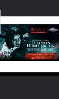 USS Halloween Horror Night 8 physical tickets + free gift
