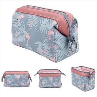 BNIP flamingo make up/multi purpose pouch