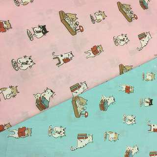 Cute catty Quality 100% cotton baby fabric/kain diy cotton cloth