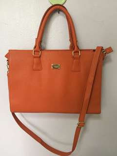 Orange 2 way bag