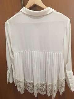 Mango Suite white blouse