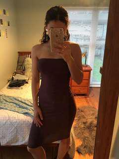 Missguided plum bodycon dress
