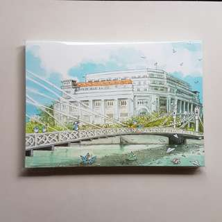 Ah Guo notebook Fullerton Hotel Cavenagh Bridge Singapore River Civic District