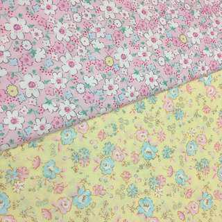 Fresh flowers Quality 100% cotton baby fabric/kain diy cotton cloth