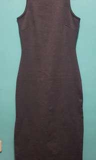 Sleeveless Dress with Side Slits