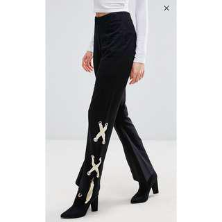 🚚 ASOS trousers with lace up sides