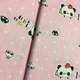 Cute panda Quality 100% cotton baby fabric/kain diy cotton cloth