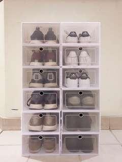 White NMD shoebox stackbox adidas Nike
