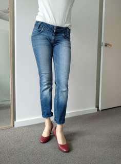 Lee slim fit cropped jeans W28