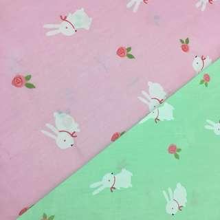 Cute rabbit Quality 100% cotton baby fabric/kain diy cotton cloth