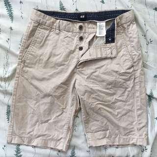 H&M men's khaki shorts
