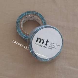 MT紙膠帶 藍色咖啡色幾何 全新