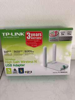TP-Link 300 mbps high gain wireless n usb adapter