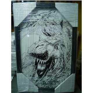 Michael Golden's Jurassic Park Portfolio Print Framed #2