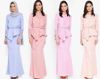 Lubna Kurung Lace Sleeve
