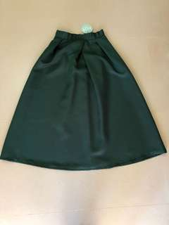 Flared Skirt (Dark Green)