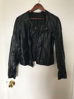 Hollister vegan leather jacket