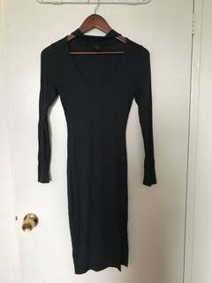 Choker neck body con dress