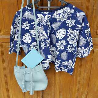 Blouse, Sling Bag, and Passport Cover only for 120k!