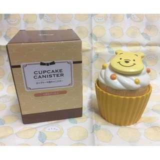 日本 維尼蛋糕造型 陶瓷盒 winnie the pooh cupcake box