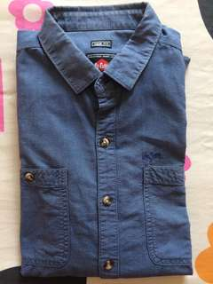 Lee Cooper Long Sleeved Denim Shirt